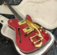 Semi Hollow Body F Hole TL Electric Guitar Archtop Body JB Bridge Gold Hardware