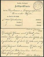 182/DR 1901 Feldpostkarte Bahnpost nach China an Hauptmann von der Heyde