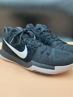 Nike Kyrie 3 Black 'Silt Red' Irving 852395-010 AirZoom Basketball Shoes Sz 13