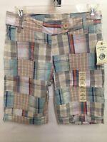 NWT Canyon River Blues Girls Plaid Bermuda Shorts Sizes 7 8 10 12 14 16