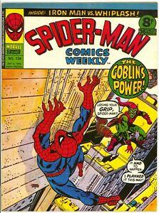 Spider-Man Comics Weekly (1973) #134 UK Reprint B&W Magazine Green Goblin FN/VF