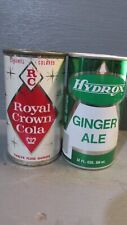 ROYAL CROWN COLA & HYDROX GINGER ALE STEEL SODA CANS    -[READ DESCRIPTION]-