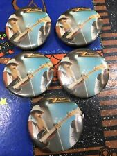 Zz Top Vintage 5 Button Collection
