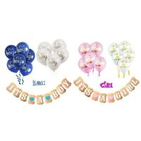 It's a Boy Girl Banner,Balloons,Cake Topper for Baby Shower Party Decoration