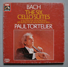 SLS 1077723 - PAUL TORTELIER - BACH - THE SIX CELLO SUITES - 3 LP BOX - NM