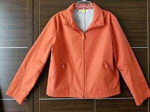 Sandro Women's Orange Lightweight Jacket Windbreaker Zipper Pockets Medium