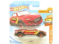 Hotwheels 2-Tuff Red HW Hot Trucks Short Card 1 64 Scale Sealed