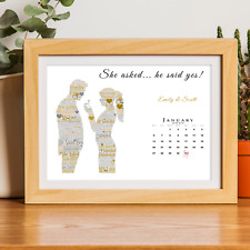 She asked... he said yes!Personalised Engagement Gift Present Date of Engagement