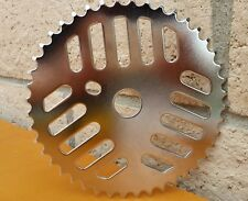 44T GT BMX Bicycle ChainRing Sprocket *CHROME* Cruiser MTB Cheese Grater New