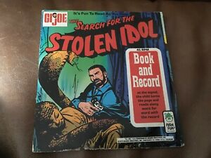 Vintage GI JOE , The Search For The Stolen Idol Book+45 rpm record 1973