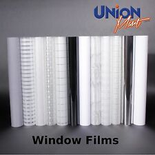 Frosted Window Film - Opaque Privacy Solar Wrap - 8 Designs - Adhesive Backing