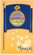 Sheehan Dubosclard Original Art Serigraph Postcard Kansas State Flag Seal Stars
