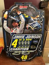 2009 Jimmie Johnson 4x Champion Wood Display Plaque Lowes Champ