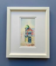 "Original Framed Miniature Watercolour/Ink ""Fremantle Elegance"", Fremantle WA"