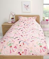 BN Mamas & Papas Kids Girls Fairies Pink Single Duvet Cover & Pillowcase Set