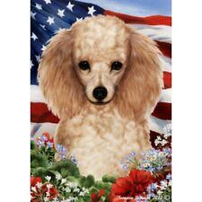 Patriotic (1) House Flag - Apricot Poodle 16016