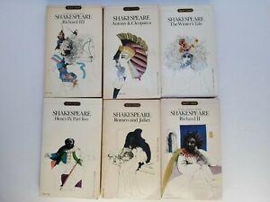 Shakespeare Signet Classics Lot of 6 Vintage 1960s Paperbacks Pocketbooks