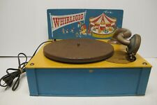 Vintage WHIRLIGIG Child's Toy Gramophone~Record Player~Phonograph~Working~BIRCH