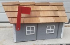 Amish Crafted Slate Tone Grey Barn Style Mailbox - Lancaster County PA