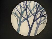 "VINTAGE NORITAKE CRAFTONE DINNER PLATE ""TREES"" 10 5/8'' EXTREMELY HARD TO FIND"