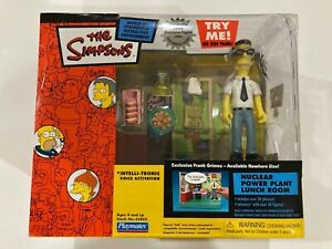 NOS NIB Simpsons Playmates Nuclear Power Plant with Frank Grimes Sealed