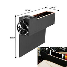New 4 USB Charger Car Seat Gap Catch Filler Ticket Coin Storage Box Cup Holder