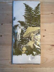 Vintage MUSHROOM Paper Table Cover Tablecloth, MCM Retro Cottagecore Party NOS