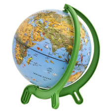 "Giacomino 6"" World Globe Map With Continents Countries Oceans Animals Geography"