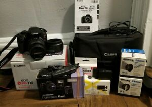 Canon EOS Rebel T6 DSLR camera EF-S 18-55 IS II full kit
