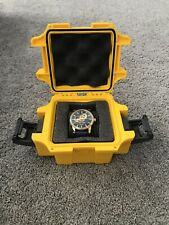 invicta mens watch Blue Leather Band And Blue Face And Gold Outline