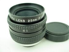 C-mount 25mm f/1.8 Movie Lens Beautiful 16mm TV Optic