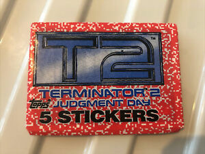 Topps - T2 - Terminator 2 :Judgment Day - Stickers Packets x5 - 1991 - Sealed.
