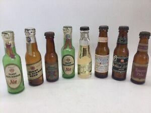 Vintage 1950-1960's Miniature Mini Beer Bottles, 8 piece lot