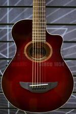 More details for yamaha apxt2 electro acoustic 3/4 travel guitar, dark red burst & gigbag