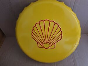 Shell Oil Retro Vintage Wall Display Sign Metal Bottle Top 30cm Man Cave