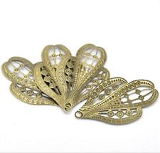 30PC Bronze Filigree Cactus Charm Pendants Embellishments 6.1x3.8cm