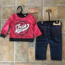 NEW $79 True Religion 18 mo. Baby Boys Set Pullover Sweatshirt Jeans 18M