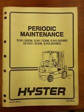 Hyster Periodic Maintenance Manual Part No.897538