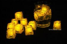 Set of 12 Litecubes Jewel Color Tinted Topaz Yellow Light up LED Ice Cubes
