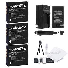 3x KLIC-7004 Battery  + Charger for Kodak EasyShare V1233 V123 V1273 Zi8