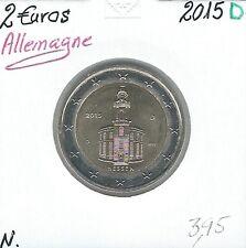 2 Euros - ALLEMAGNE - 2015 - Lettre: D // Qualité: Neuve