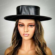 Steampunk Hat Plague Doctor Costume Top Flat Hat Halloween Cosplay Hat Unisex