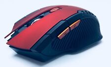 Mouse WIRELESS 6D gamming 2.4GHz, Rosso/Nero, 6 pulsanti, Mouse ottico wirelless