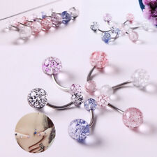 Personality Crystal Belly Button Rings Body Ring Navel Piercing Jewelry UK