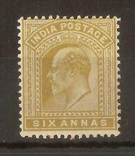 India 1902 6a SG132 Mint Cat£21