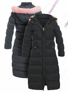 Womens Coat New Padded Ladies Winter Jacket Size 12 14 16 10 8 Faux Fur