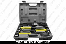 7pc Fiberglass Auto Body Heavy Duty Dent Repair Tool Hammer Bender Dolly