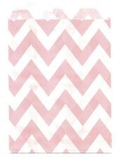 25 Pcs Light Pink Large Chevron 5x7 Print Paper Gift Bags Favor Candy Shop