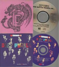 DEEP PURPLE IN PROFILE [WORDS AND MUSIC] +THE BATTLE RAGES ON PROMO CD LOT OF 2