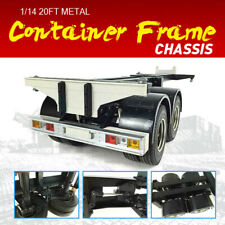 1/14 20FT Metal Container Frame Chassis 2Axle For RC Tractor Truck Trailer US